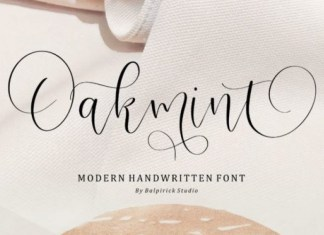 Oakmint Calligraphy Font