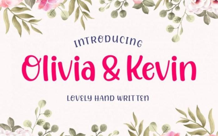 Olivia & Kevin Script Font