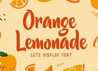 Orange Lemonade Brush Font