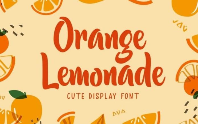 Orange Lemonade Brush Font
