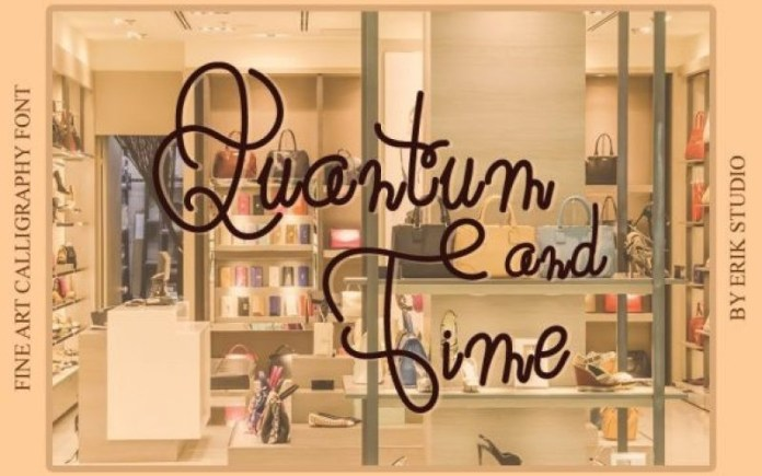 Quantum and Time Handwritten Font