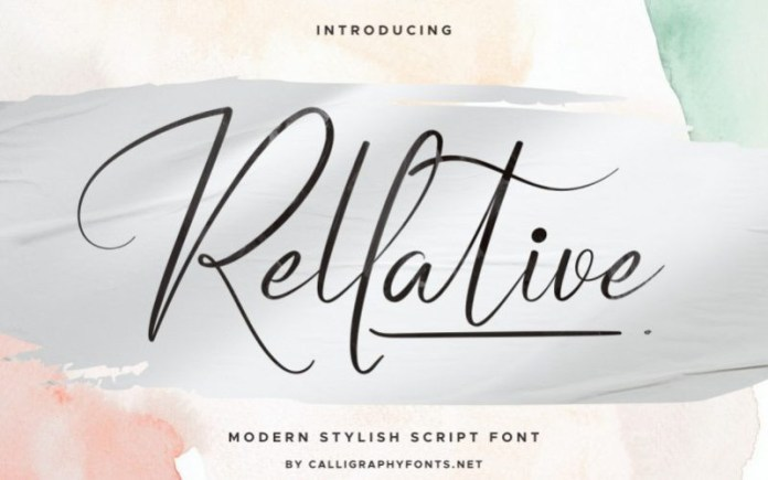 Rellative Calligraphy Font