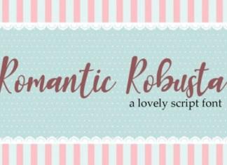 Romantic Robusta Script Font