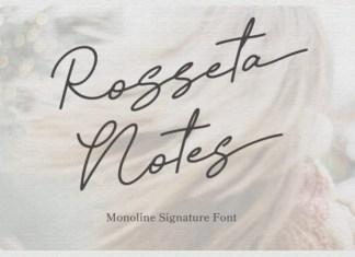 Rosseta Notes Handwritten Font
