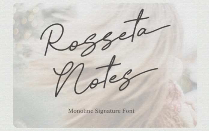 Rosseta Notes Handwritten Font