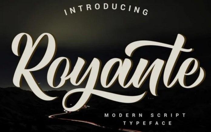 Royante Script Font