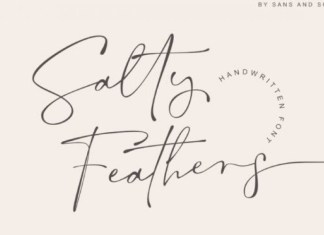 Salty Feathers Handwritten Font