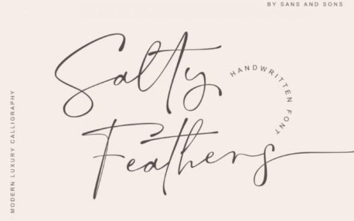Salty Feathers Handwritten Font