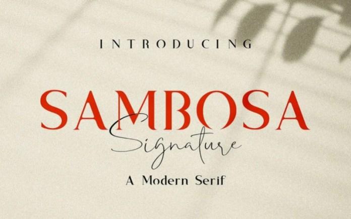 Sambosa Serif Font