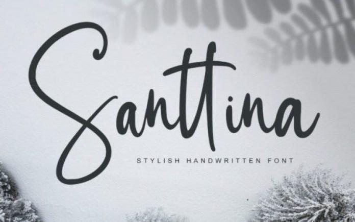 Santtina Script Font