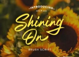 Shining On Script Font