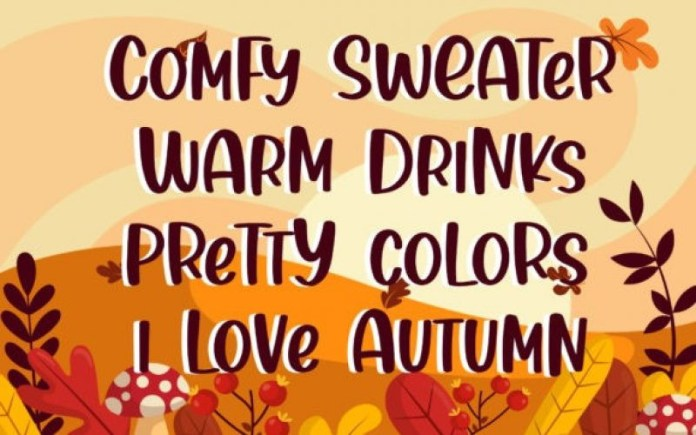 Thanks Autumn Display Font
