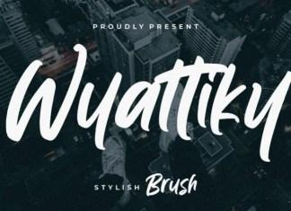 Wyattiky Brush Font