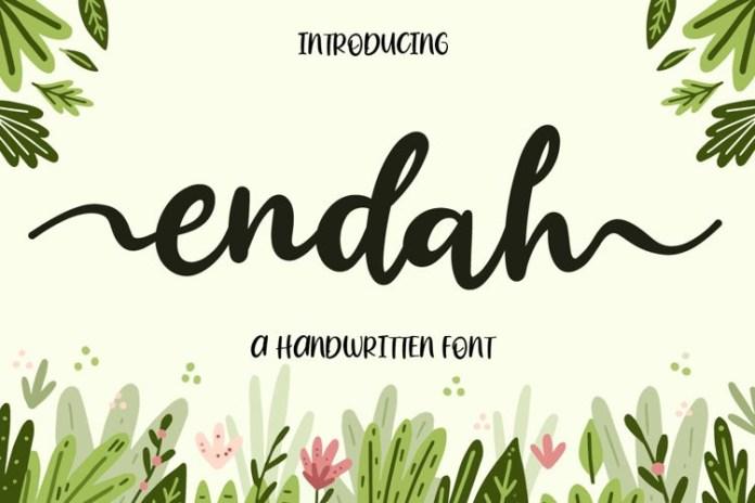 Endah Calligraphy Font