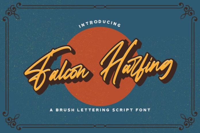 Falcon Harfing Handwritten Font