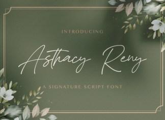 Asthacy Reny Handwritten Font