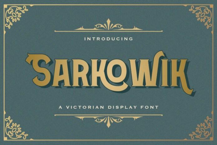 Sarkowik Display Font