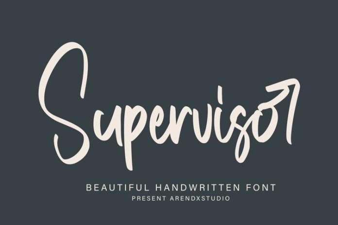 Supervisor Script Font