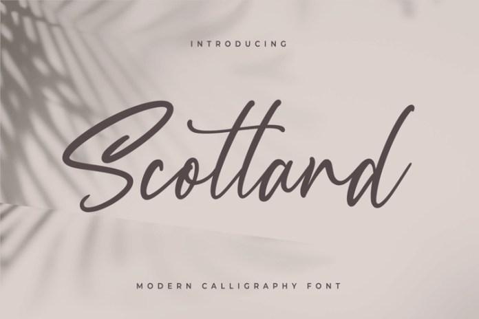 Scotland Script Font