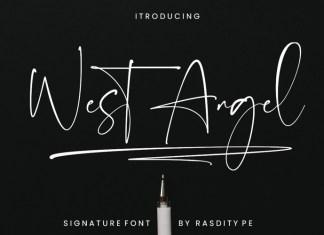 West Angel Handwritten Font