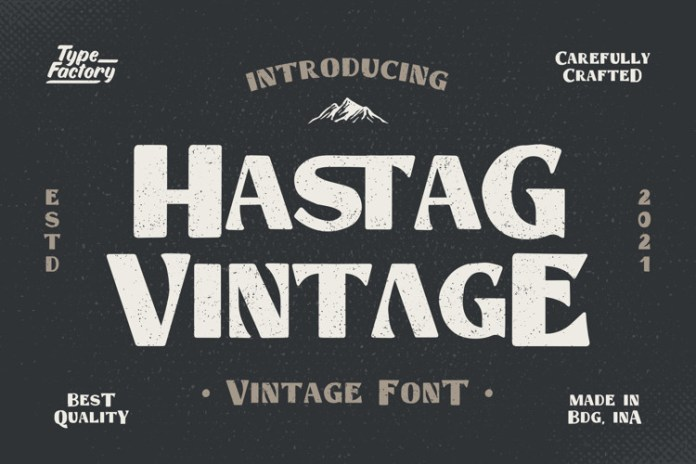 Hastag Display Font