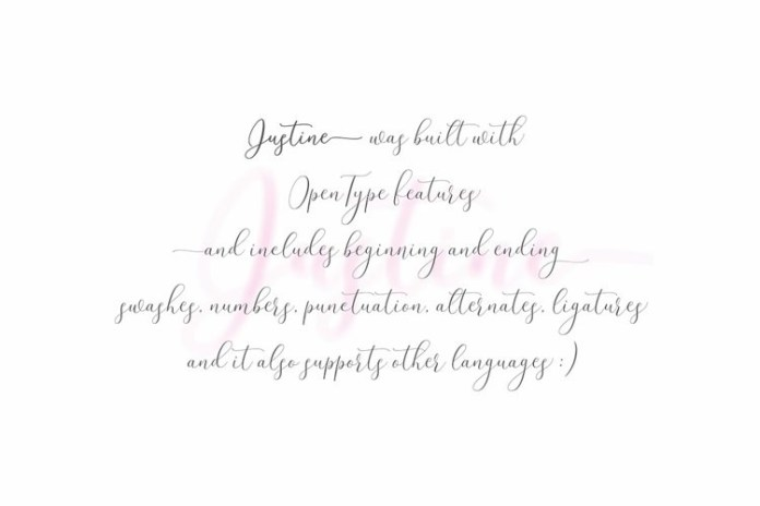 Justine Calligraphy Font