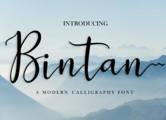 Bintan Calligraphy Font