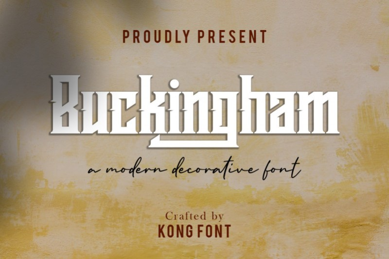 Buckingham Display Font