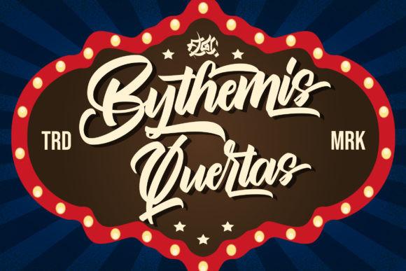 Bythemis Quertas Brush Font