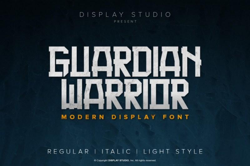 Guardian Warrior Display Font