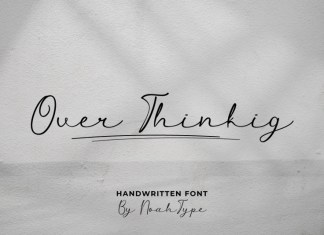 Over Thinking Handwritten Font