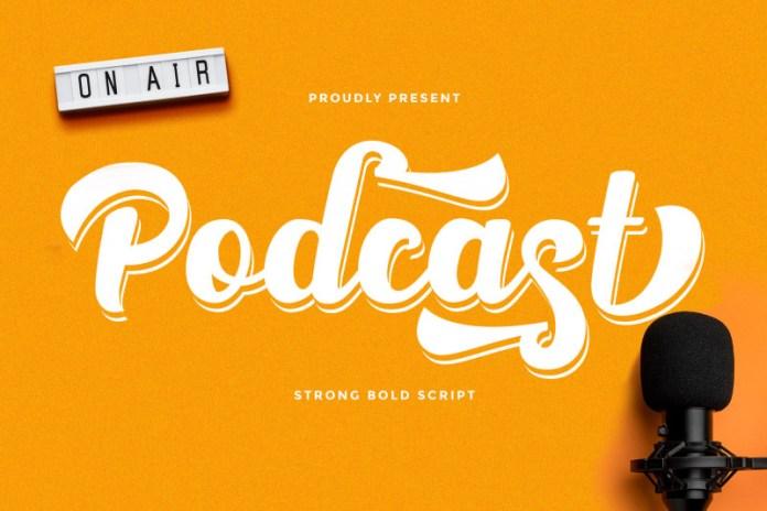 Podcast Script Font