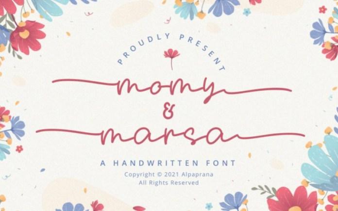 Momy & Marsa Handwritten Font
