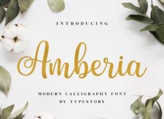 Amberia Calligraphy Font