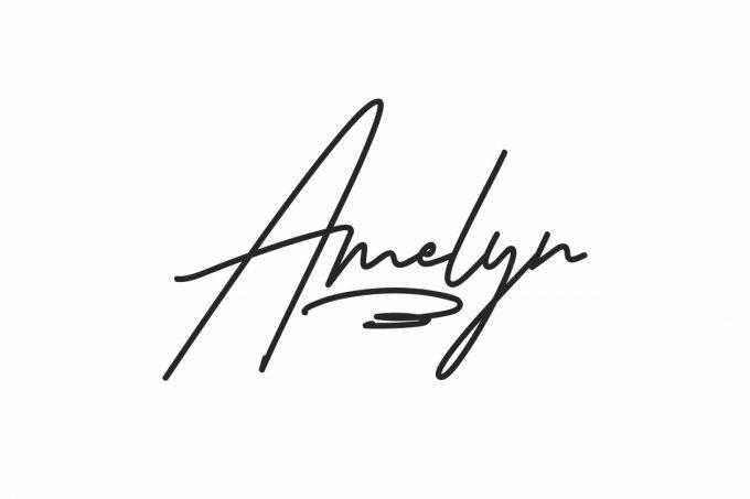 Amelyn Handwritten Font