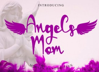 Angels Mom Calligraphy Font