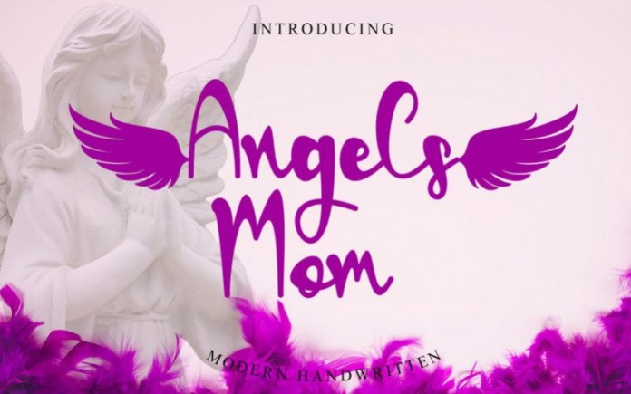 Angels Mom Calligraphy Font