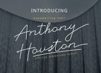 Anthony Houston Handwritten Font