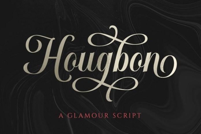 Hougbon Calligraphy Font