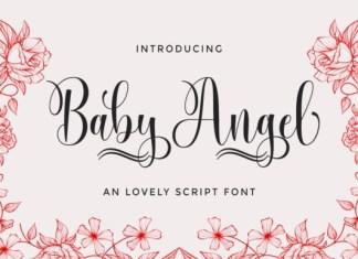 Baby Angel Calligraphy Font