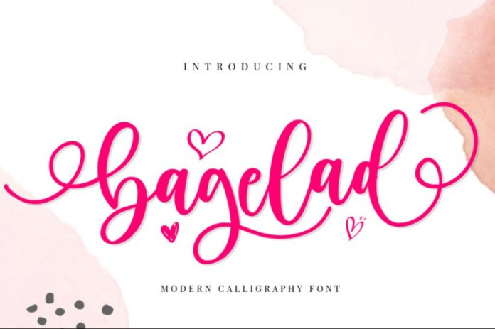 Bagelad Calligraphy Font