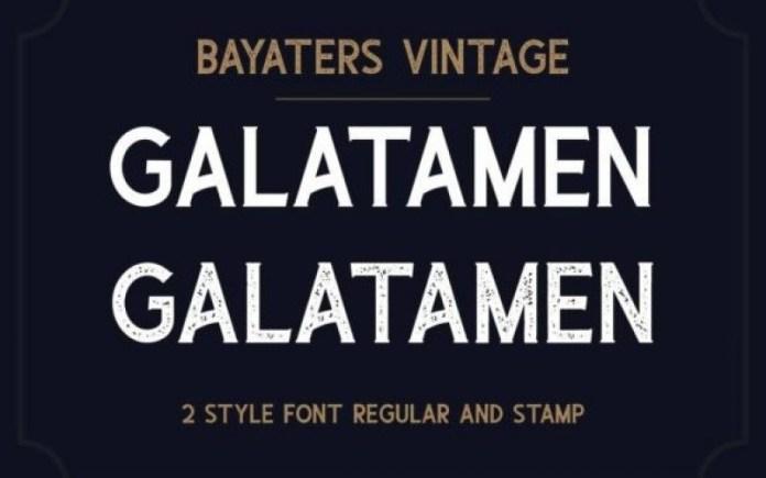 Bayaters Display Font
