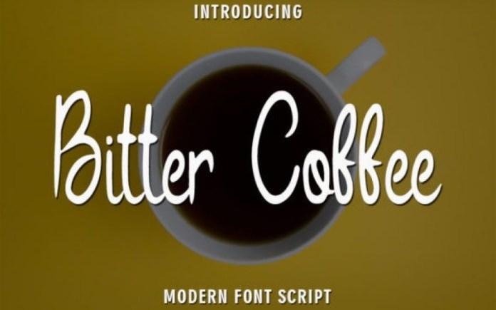 Bitter Coffee Script Font