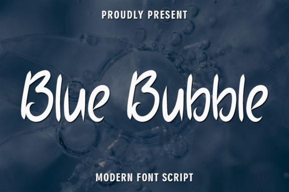 Blue Bubble Brush Font