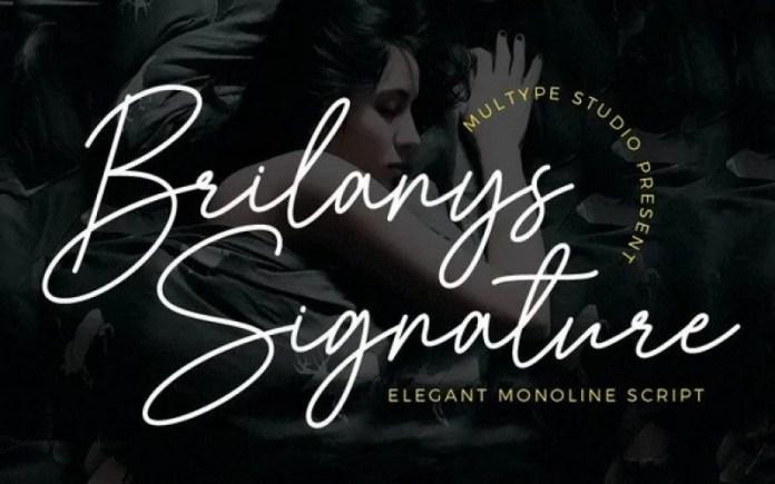 Brilanys Signature Script Font