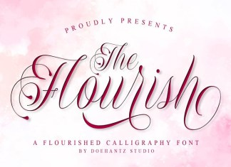 The Flourish Calligraphy Font