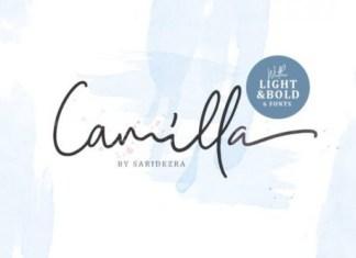 Camilla Handwritten Font