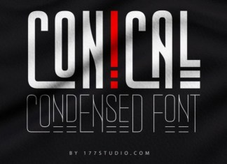 Conical Condensed Sans Serif Font