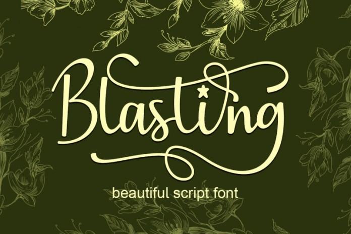 Blasting Calligraphy Font