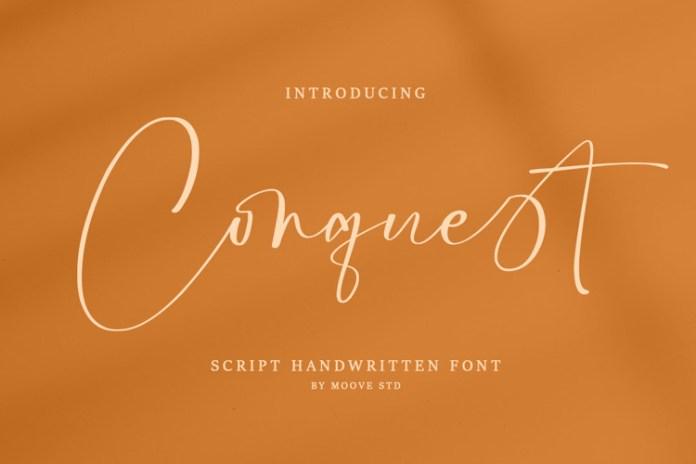 Conquest Script Font